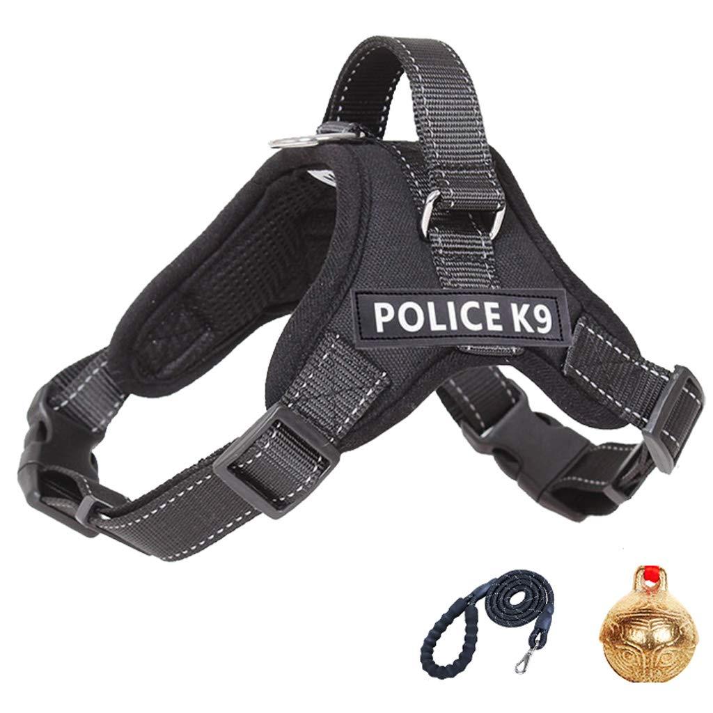 Black Large black Large Pet Traction Rope- pet Chest Strap pet Clothing Small Large Dog Medium Dog Belt Saddle Necklace pet leash Explosion-Proof Belt
