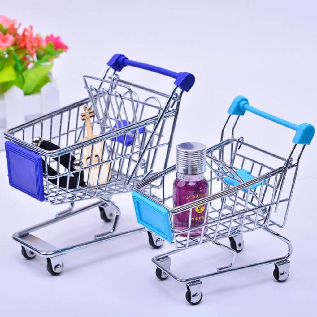 JOYKK Chariot de magasinage de Chariot de supermarch/é de Chariot de supermarch/é de Main de Mini Chariot Semblant des Enfants Rose