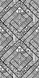 Canvas On Demand Julia Snegireva Removable Wallpaper Tile for Coloring, 24'' x 48'', entitled 'Geometric Diamond III'