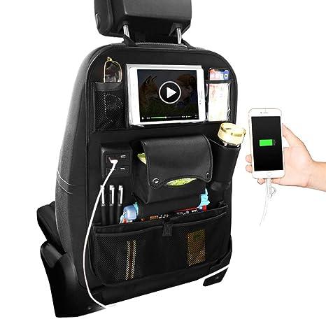 Amazon.com: ZJWZ Organizador de asiento trasero de coche ...