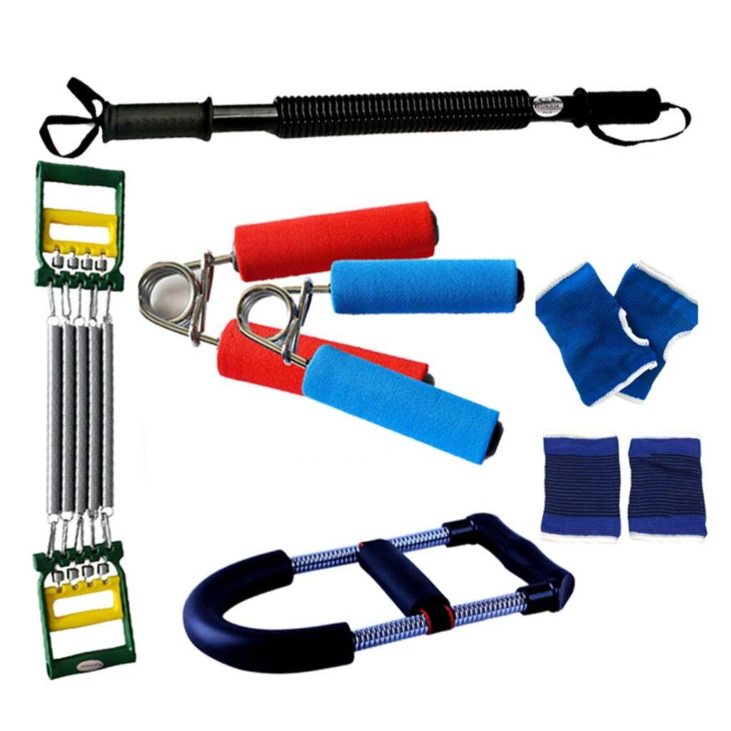 B Zhiniu Combinaison d'équipement de Conditionnement Physique, Barre multifonctionnelle d'extracteur de Bras Ménage à l'intérieur du Muscle Pectoral Entraîneur de Puissance équipement Sportif 60KG