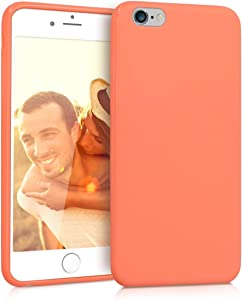 kwmobile TPU Case Compatible with Apple iPhone 6 Plus / 6S Plus - Case Soft Thin Slim Smooth Flexible Protective Phone Cover - Coral Matte