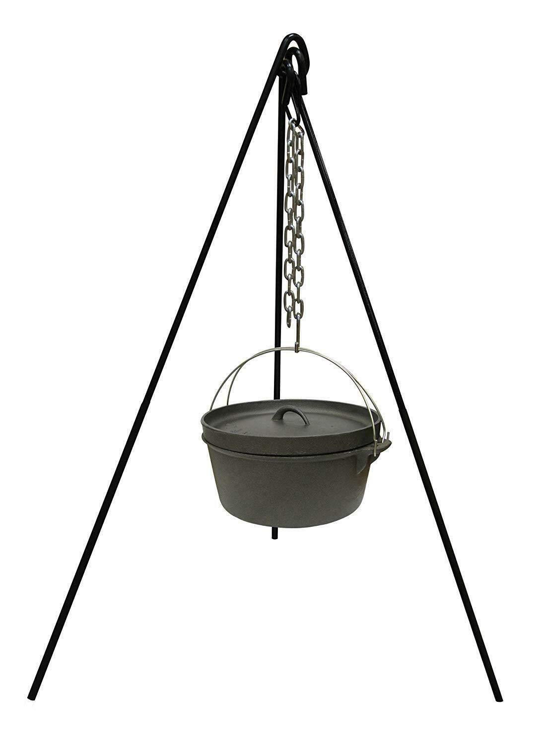 WWX Tripod Camping Outdoor Cooking Campfire Picnic Pot Cast Iron Fire Grill Oven New by WWX