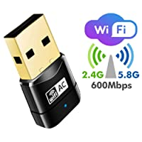 BlueBeach WiFi Adapter 600Mbps USB Dongle 802.11ac Dual Band 2.4GHz/5GHz Wireless Network Signal Receiver