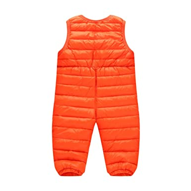 M&A Bebé Niño Niña Peleles Mameluco Ropa de Una Pieza Para Dormir Plumón Pantalones Tirantes Plumas