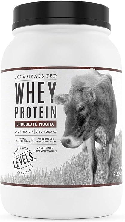 Amazon.com: Levels 100% Grass Fed Whey Protein, No GMOs, Chocolate ...