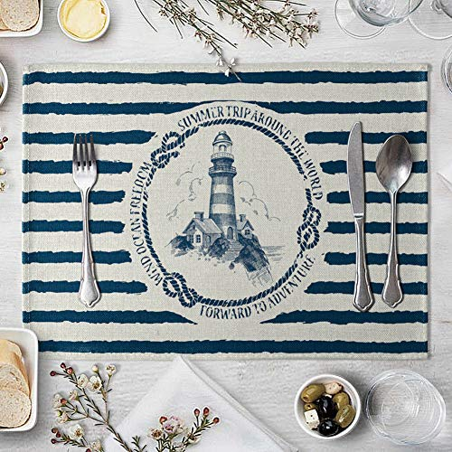 memorytime Fish Rudder Compass Heat Insulated Pad Kitchen Dining Table Mat Placemat Decor Kitchen Dining Supplies - 4# by memorytime (Image #9)