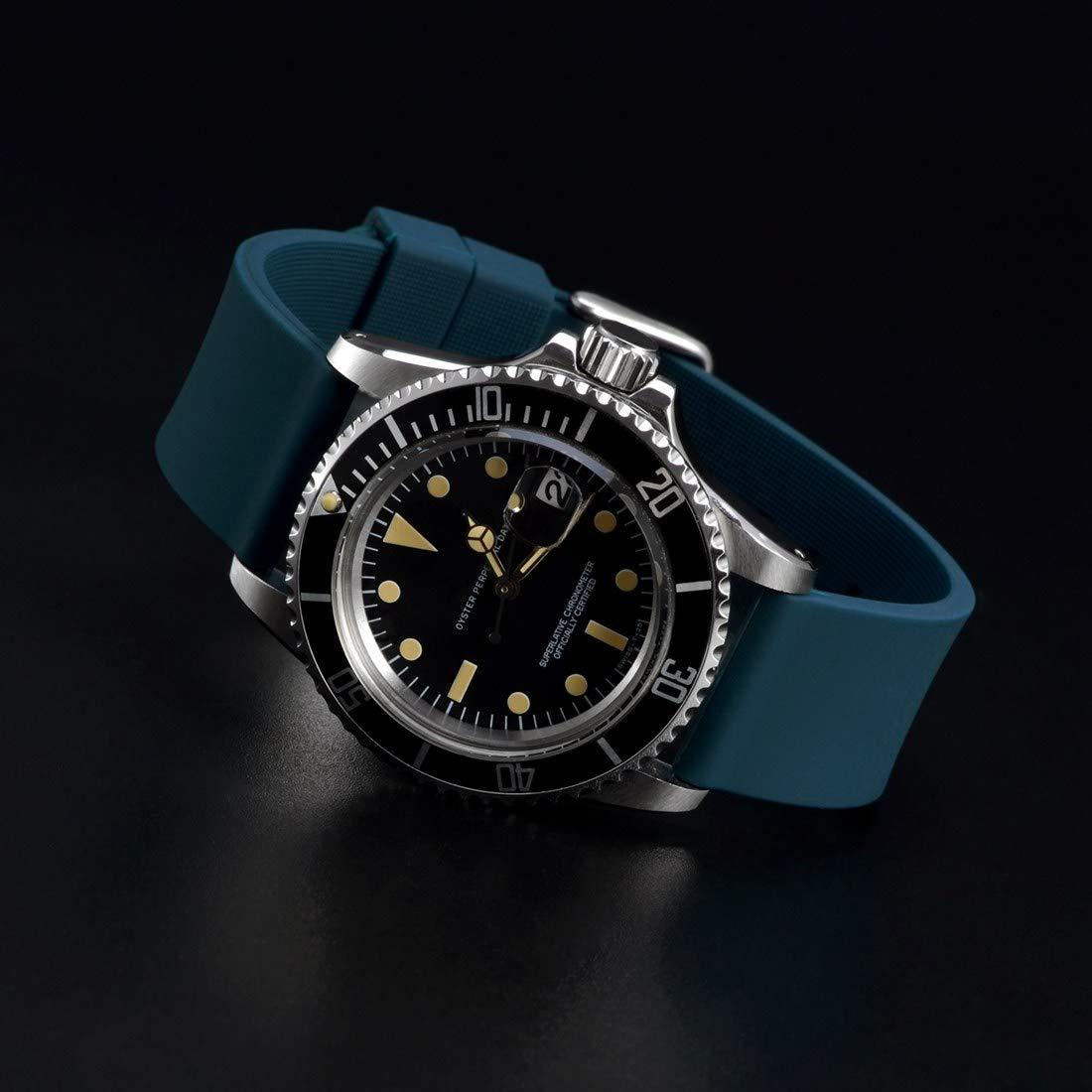 WOCCI - Correa de Silicona para Reloj (14 mm, 18 mm, 20 mm, 22 mm): Amazon.es: Relojes