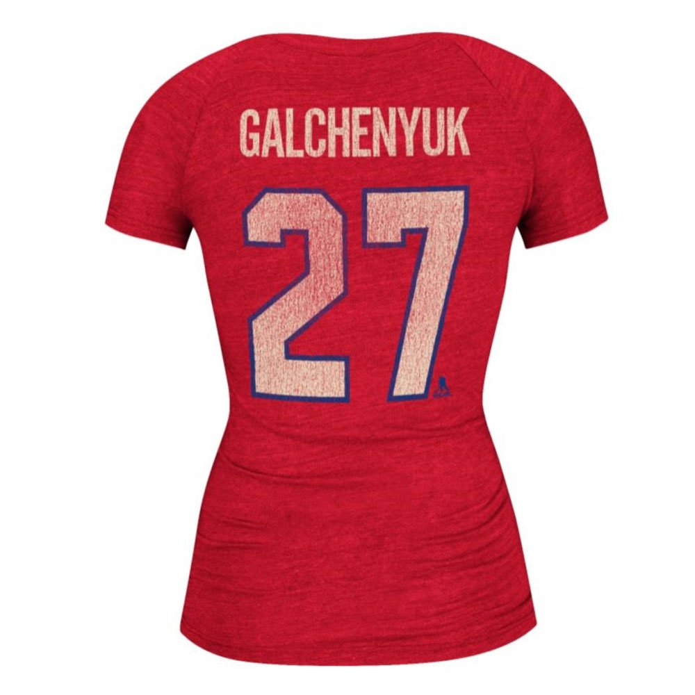 reputable site 5a56d 49c1e Montreal Canadiens Alex Galchenyuk Women's Retro Tri-Blend V ...