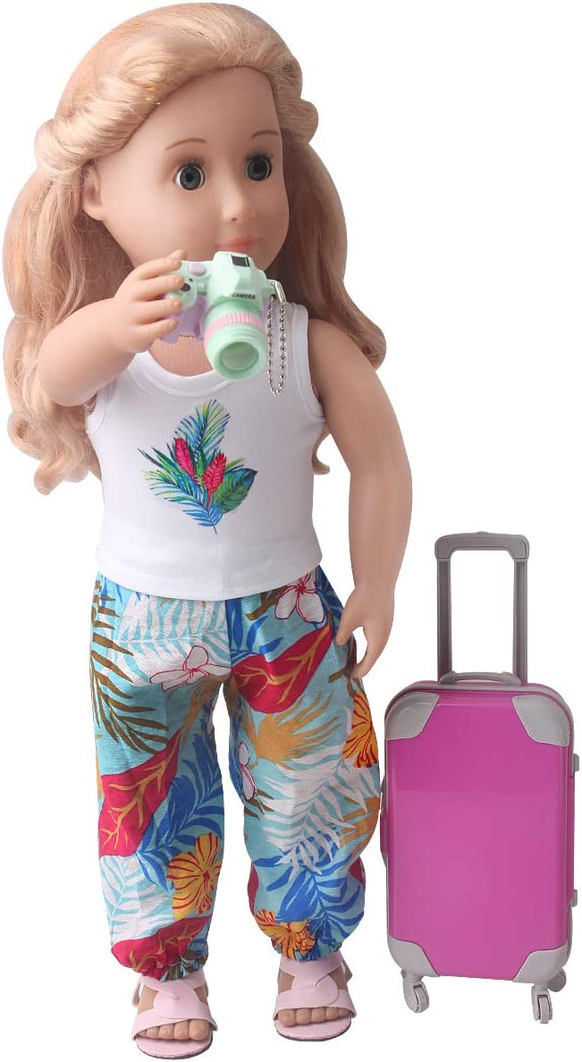Including Suitcase Camera Phone Spofew 18 PCS Doll Suitcase for 18 Inch Doll Choice Ipad,ect Doll Suitcase Luggage Travel Play Set for Girl 18 Inch Doll Travel Carrier Storage