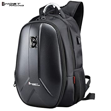 6e0c53bb50fc Amazon.com: ZMEETY Motorcycle Backpack Carbon Fiber Waterproof ...