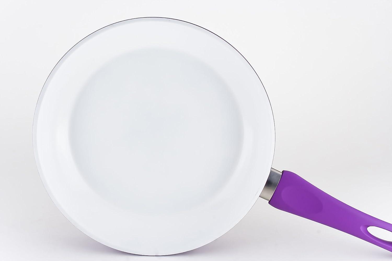 DARNA M140401 - Sarten ceramica tirol 24 cm blanco- lila: Amazon.es: Hogar