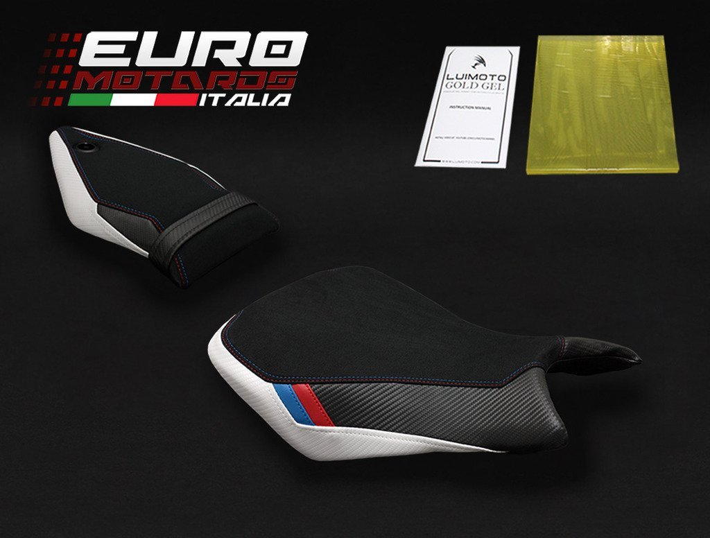 BMW S1000RR 2015-2017 Luimoto Motorsports Suede Seat Cover Set Front & Rear + Gel Pad