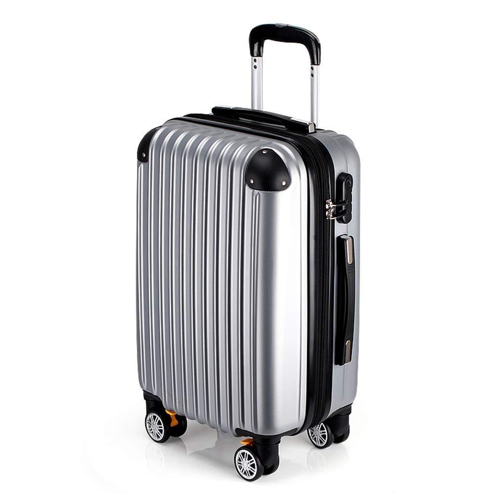 36-dianyejiancai ファッション軽量スーツケース荷物大型男性と女性のハードボックスパスワードボックス、マルチカラーとマルチオプション (Color : Silver, サイズ : 28