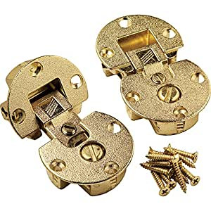 Brass - Fully Adjustable Concealed Fall Flap Hinges