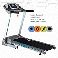 REACH T-5100 | Best Treadmill for Home Gym with 2.5 HP DC Motor auto inclination Fitness Exercise Equipment with Extra Cushioning and Amazing Pre - Select Workout Option