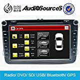 Audiosources 1024*600 Capacitive Screen Car DVD Player Car PC with OBDⅡ CANBUS GPS Navigation MP3 player For VW Golf EOS Passat Jetta Caddy Tiguan Touran Sharan Scirocco Beetle Amarok Polo 2006-2016
