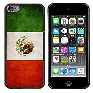 EJOOY---Cubierta de la caja de protección para la piel dura ** Apple iPod Touch 6 6th Touch6 ** --Nacional bandera de la nación País México