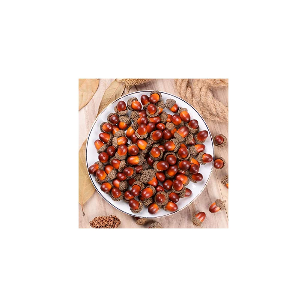 DearHouse-Fake-Acorns-for-Crafts-Artificial-Fruit-Props-Acorns-Decoration-Crafting-DIY-Home-Party-Wedding-Decor-Thanksgiving-Christmas-Festival-Brown
