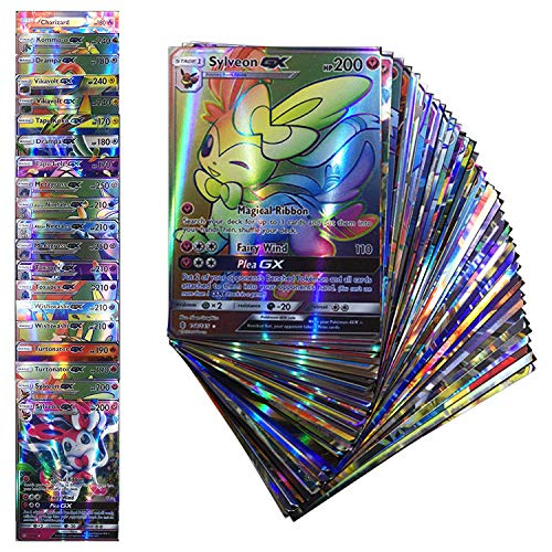 (100 Cards TCG Style Card Holo EX Full Art! 80 EX Cards and 20 GX Cards)