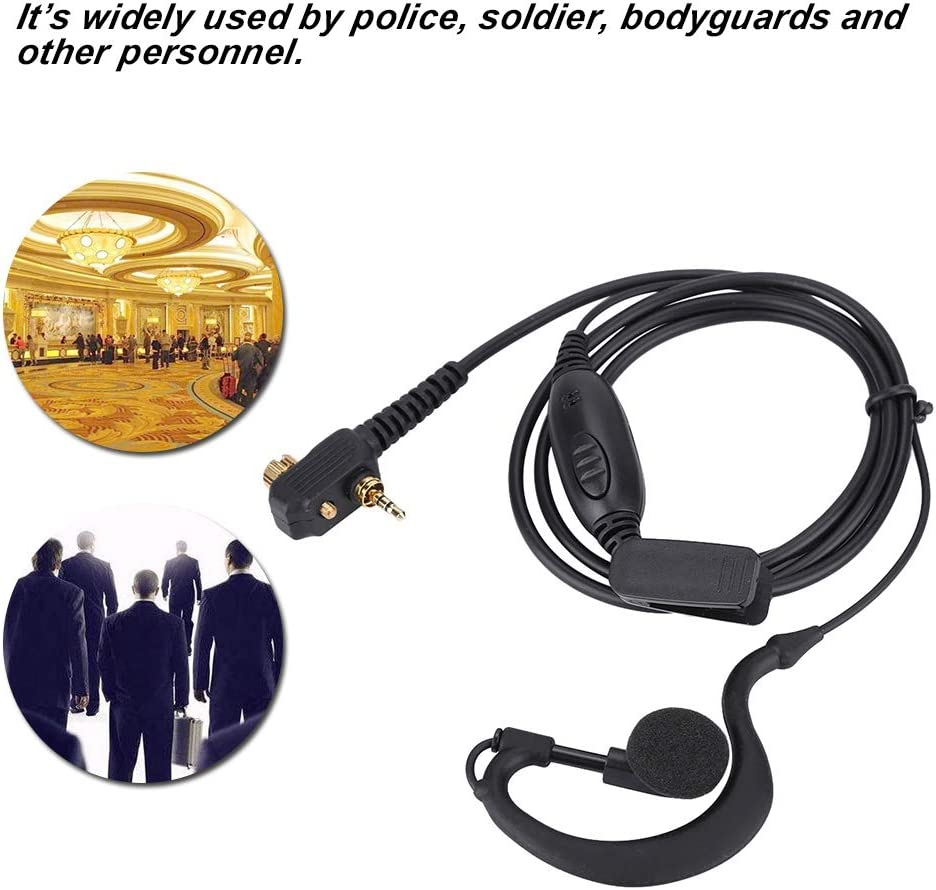 Walkie Talkie Earpiece with Mic Radio Earpiece Acoustic Tube Earpiece Headset Police Earpiece PTT Headset Mic for Motorola Tetra Two Way Radio MTH800 MTP850 Walkie Talkie