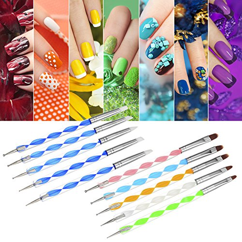 Bememo 14 Pieces Dotting Tools Painting Brushes Set Nail Art Dotting Tool for Rock Painting Embossing Art Pottery Craft
