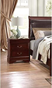 Global Furniture USA Marley, Nightstand, Merlot
