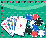 1/2 Sheet - Casino Poker Game Birthday - Edible Cake/Cupcake Party Topper!!!