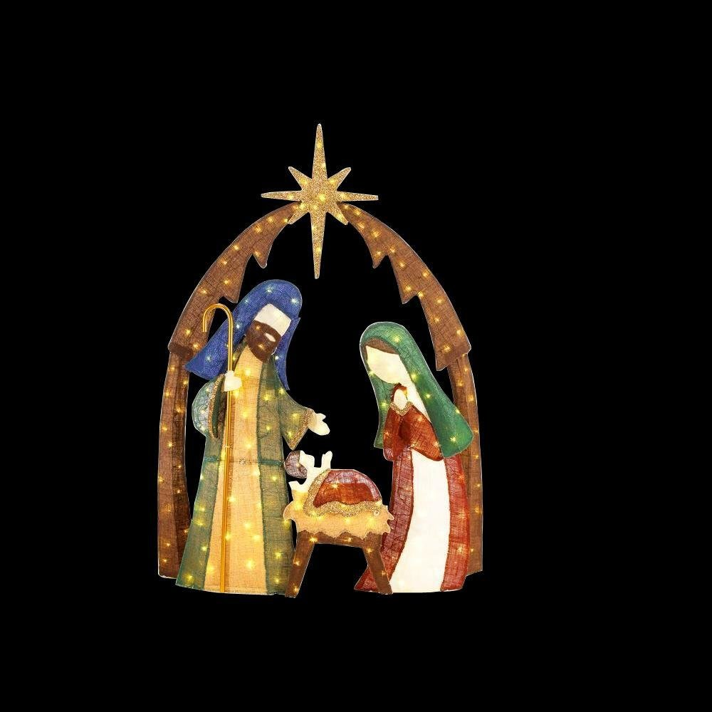 Amazon home accents holiday ty731 1614 76 in led lighted amazon home accents holiday ty731 1614 76 in led lighted burlap nativity scene electronics mozeypictures Choice Image
