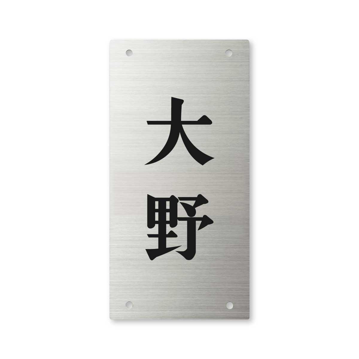 丸三タカギ 彫り込み済表札 【 大野 】 完成品 エクステリアメーカー対応 SIC-S-2-2-大野   B00RGHD04S