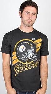 NFL Pittsburgh Steelers Vintage Crackle Short Sleeve Crew Tee Men's