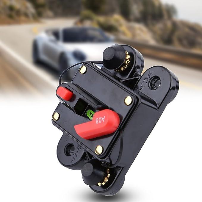 Ytian 40A Auto Disjoncteur Protection De Voiture 12V 24V DC avec Commutateur Manuel De R/¨/¦initialisation De Fusible