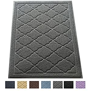 """Easyology Extra Large 35"""" x 23"""" Cat Litter Mat, Traps Messes, Easy Clean, Durable, Non Toxic - LIGHT GREY"""