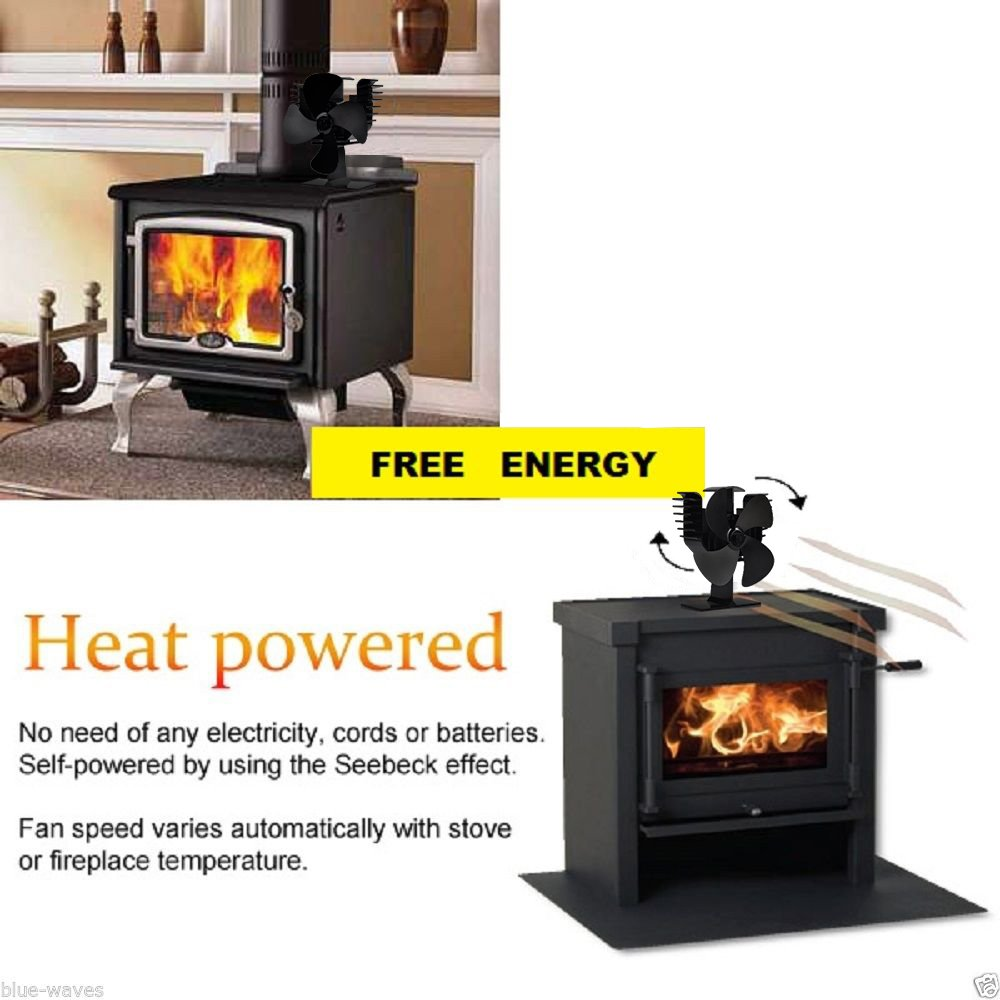 Buy Eagle Shape Heat Powered Eco Fans for Stove Fireplace Wood Log Burners 4 Blades Ultra-quiet with Stove Thermometer: Fireplace Fans - Amazon.com ? FREE DELIVERY possible on eligible purchases
