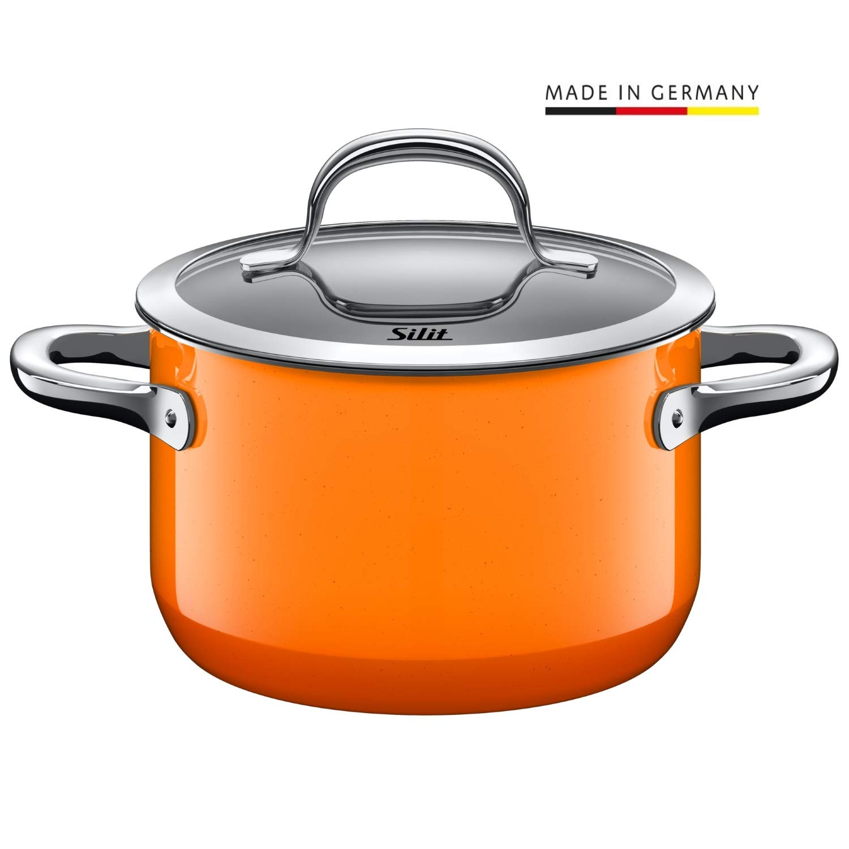 16 cm Silit 2102299110 Faitout /Émail Orange