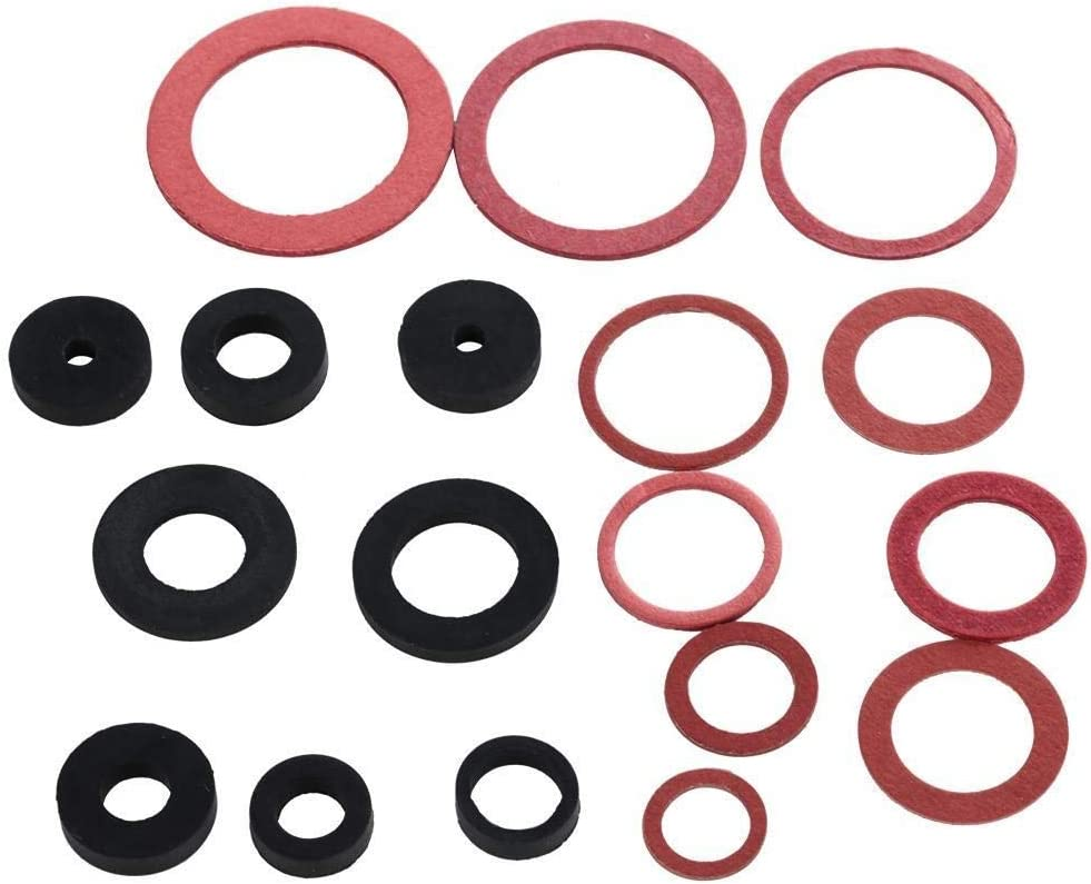 Maxmartt 141pcs NBR O-Ring Tap Seal Plumbing Gasket Rubber Washer Assortment Set