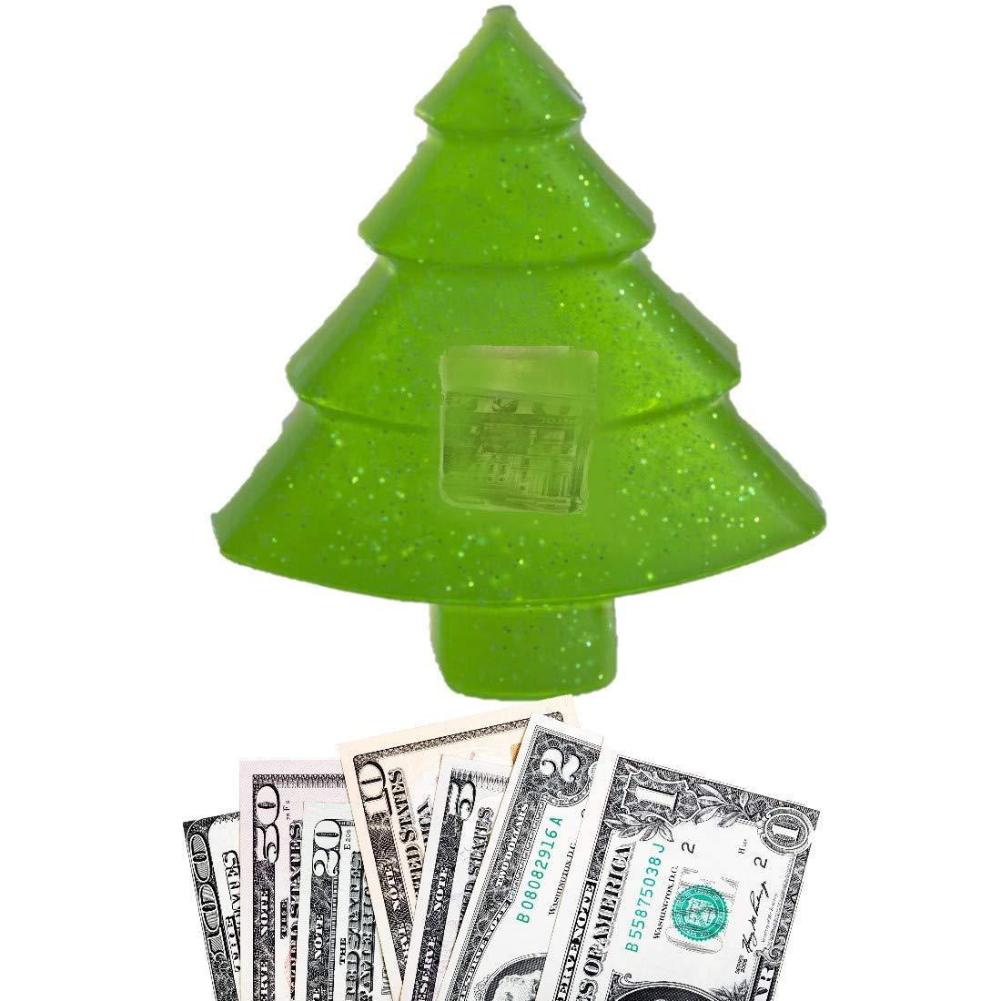 Merry Christmas Tree Shaped Real Cash Money Soap