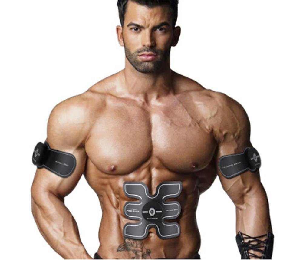 D&F Abdominal Trainer Body Toner Arms Tricep Toning Automatic Muscle Fitness Training, Unisex Ab Toner Weight Loss Belt Exercise Equipment, (With USB Line)