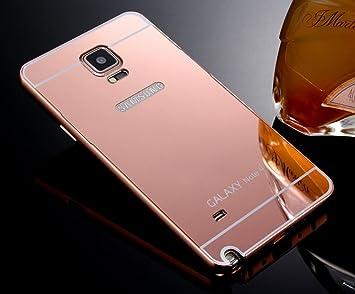 Samsung Galaxy Note 4 Funda de Espejo, Ultra Thin Aleación de aluminio metal enchapado electroplate Bumper Panel Trasero Carcasa rígida para Samsung ...