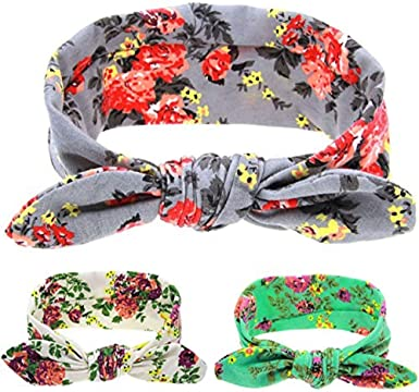 Floral foe inspired floral elastic floral hair ties flower foe feather foe-5//8