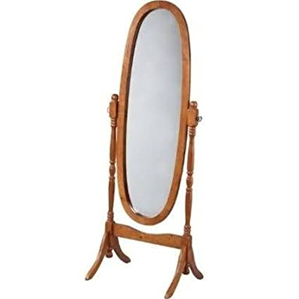 Amazon.com: Swivel Full Length Wood Cheval Floor Mirror, Oak New ...