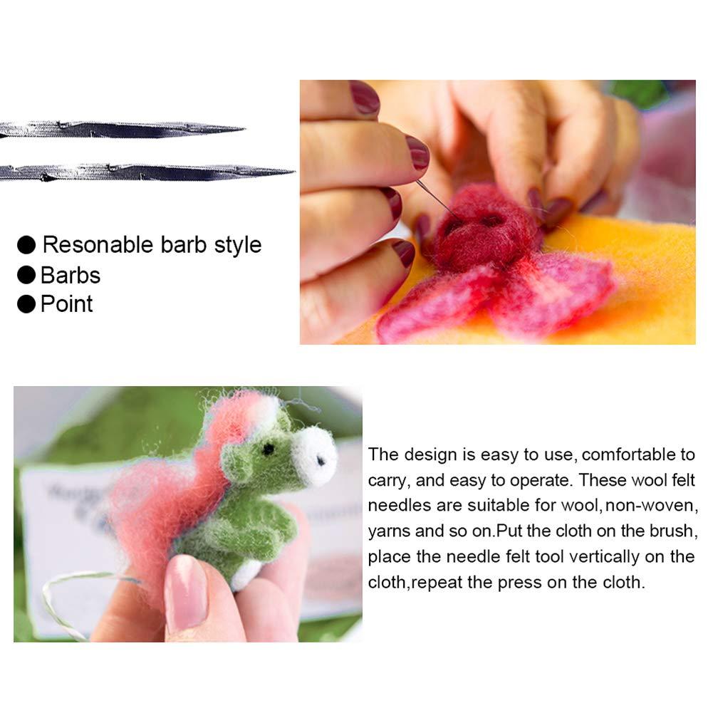 100Pcs Felting Needles Kits DIY Wool PIN Felting Tools Set Handmade Handcraft Tool Accessories L