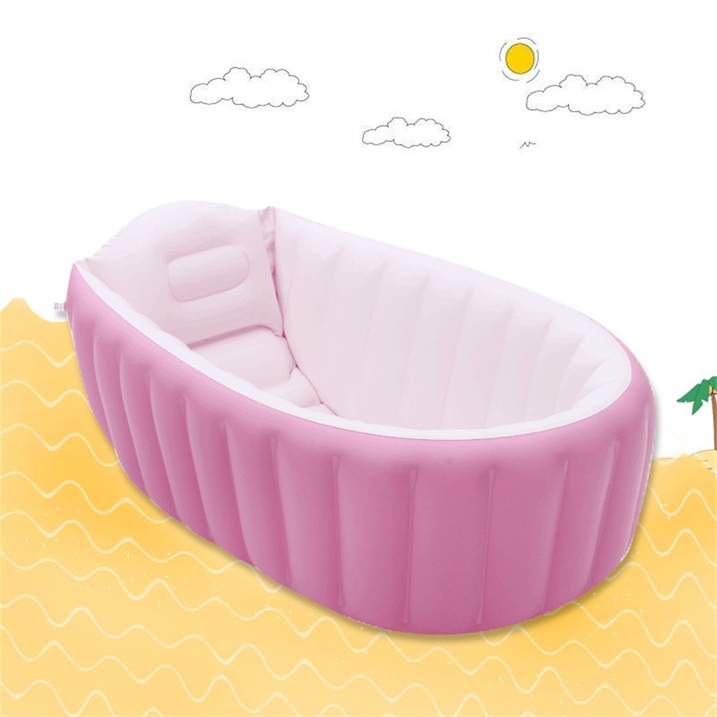 LQQGXL,Bath Child Inflatable Bathtub Inflatable Inflatable Pool Thicker Thermal Pool Collapsible Ocean Pool Pool Water Playground Inflatable bathtub ( Color : Pink )