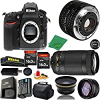 Great Value Bundle for D810 DSLR – 50MM 1.8D + 70-300MM AF-P + 2PCS 16GB Memory + Wide Angle + Telephoto Lens + Case