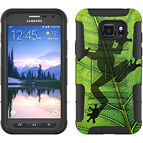 Samsung Galaxy S7 Active Armor Hybrid Case Frog Prints on Leafs 2 Piece Case with Holster for Samsung Galaxy S7 Sales