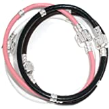 Souarts Mixte Bracelet pour Charms Drops Breloques en pu cuir 4 pcs