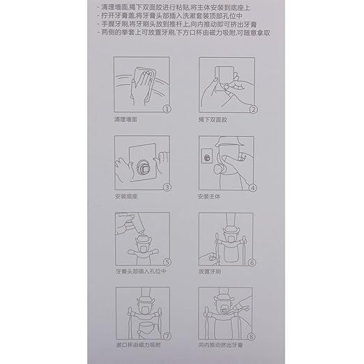 Amazon.com: DealMux dos desenhos animados padrão plástico Banho Distribuidor Automático dentífrico espremedor de armazenamento Porta-copos cremalheira Set 4 ...