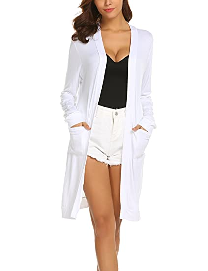 7050f81969d364 Locryz Women's Loose Casual Long Sleeve Open Front Breathable Cardigans  with Pocket