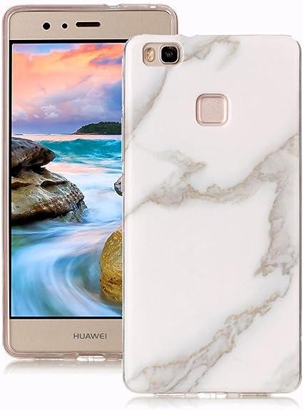 Yunbaoz Funda Compatible para Huawei P9 Lite Mármol, Diseño Mármol ...