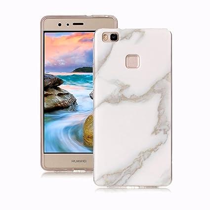 Yunbaoz Funda Compatible para Huawei P9 Lite Mármol, Diseño Mármol Carcasa Suave Goma Silicona Soft Marble Case Suitable for Huawei P9 Lite - Jade ...
